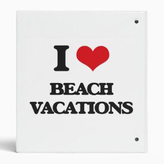 I Love Beach Vacations Binders