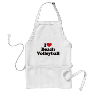 I Love Beach Volleyball Adult Apron