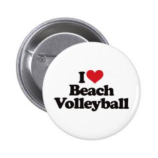 I Love Beach Volleyball Pinback Button