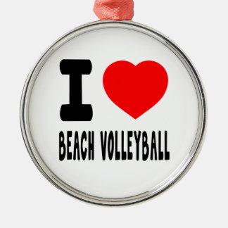 I Love Beach Volleyball Christmas Tree Ornament