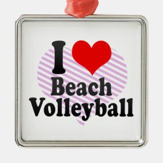 I love Beach Volleyball Christmas Tree Ornaments