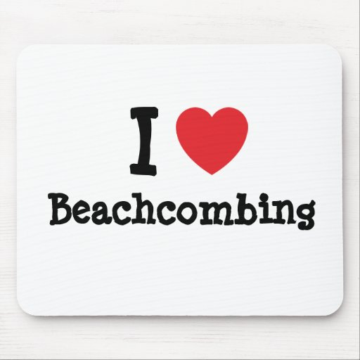 I love Beachcombing heart custom personalized Mouse Pad