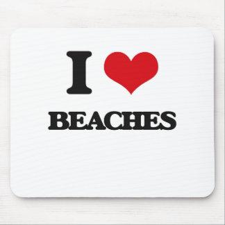 I Love Beaches Mouse Pad