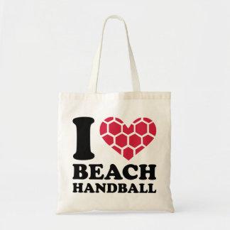 I love Beachhandball Tote Bags
