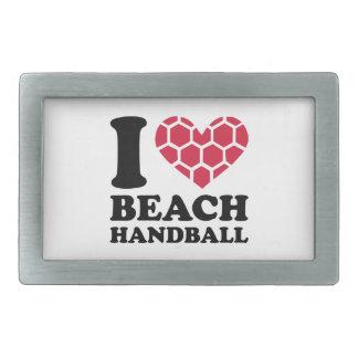 I love Beachhandball Belt Buckles