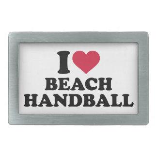 I love Beachhandball Belt Buckle