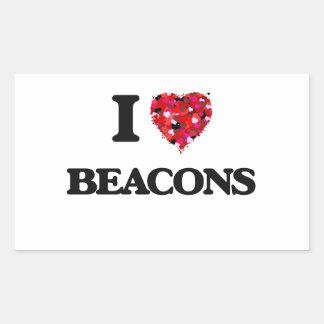 I Love Beacons Rectangular Sticker