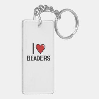 I love Beaders Double-Sided Rectangular Acrylic Keychain