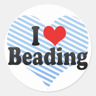 I Love Beading Classic Round Sticker