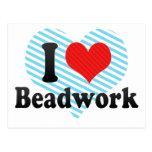I Love Beadwork Postcard