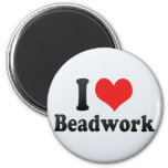 I Love Beadwork Refrigerator Magnet
