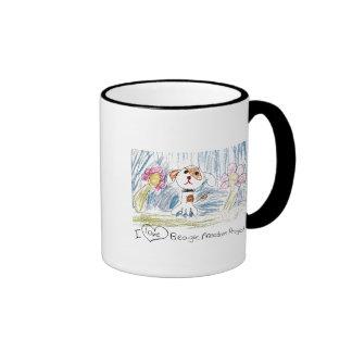 """I LOVE BEAGLE FREEDOM PROJECT!"" Ringer Mugs"
