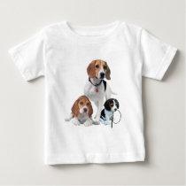 I Love Beagles Baby T-Shirt