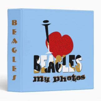 I Love Beagles Vinyl Binder
