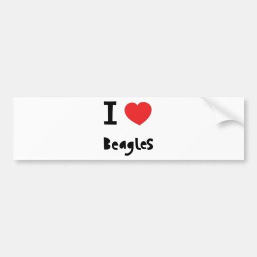 I love Beagles Bumper Stickers