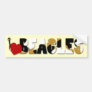 I Love Beagles Car Bumper Sticker