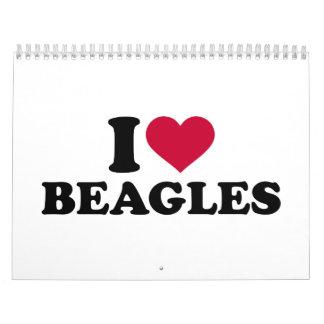 I love Beagles Calendar