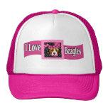 I Love Beagles Hats