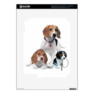 I Love Beagles iPad 3 Decals