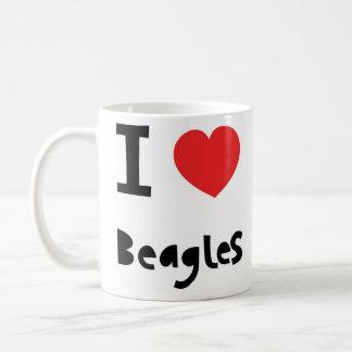 I love Beagles Basic White Mug