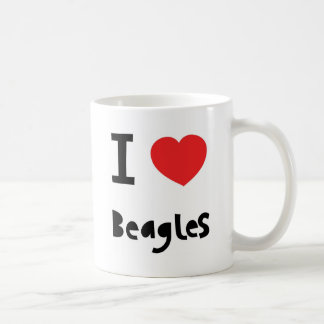 I love Beagles mug Coffee Mugs