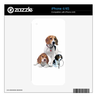 I Love Beagles Skins For The iPhone 4S