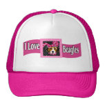 I Love Beagles Trucker Hat
