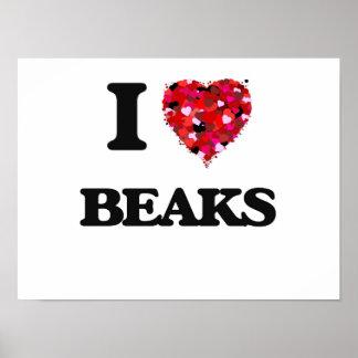 I Love Beaks Poster