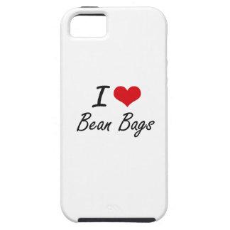 I Love Bean Bags Artistic Design iPhone 5 Cases