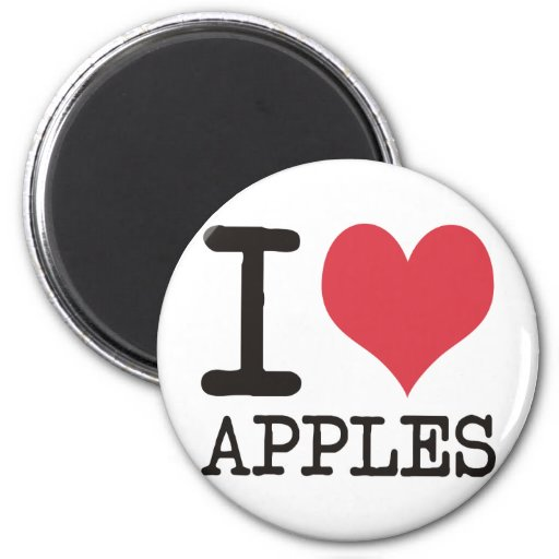 I LOVE Beans America Apples & More Products! Refrigerator Magnet
