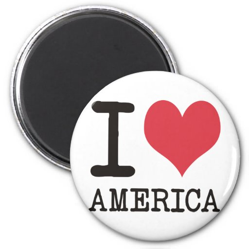 I LOVE Beans America Apples & More Products! Fridge Magnet