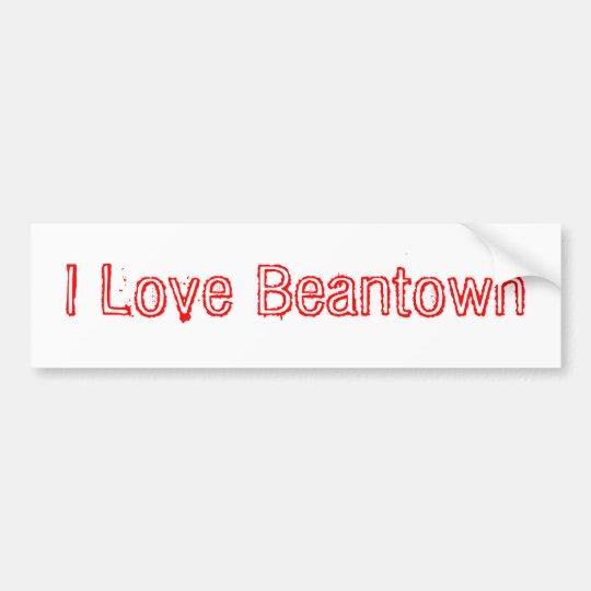 I Love Beantown Bumper Sticker