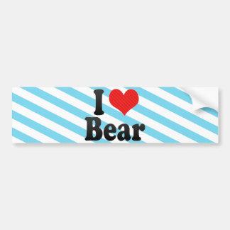 I Love Bear Car Bumper Sticker