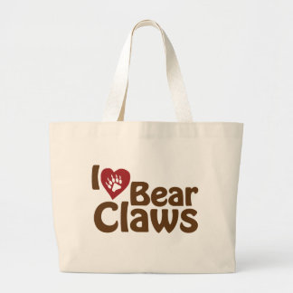 i love bear claws tote bags