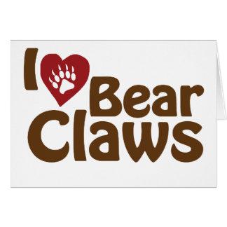 i love bear claws card