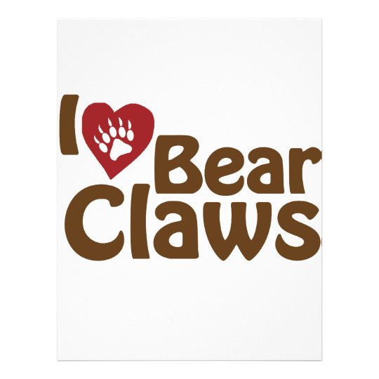 i love bear claws flyer