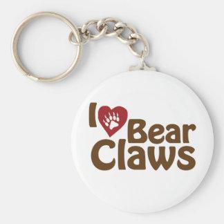 i love bear claws keychain