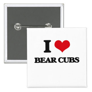 I love Bear Cubs 2 Inch Square Button