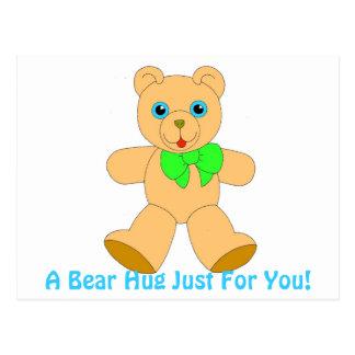 I Love Bear Hugs! Bear Hug Postcard