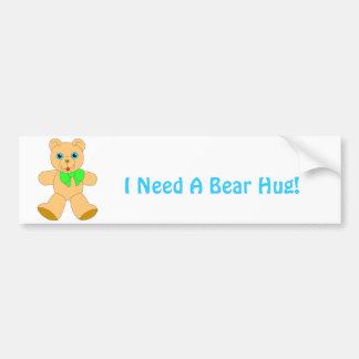 I Love Bear Hugs! Bumper Sticker