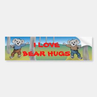 I Love Bear Hugs Car Bumper Sticker