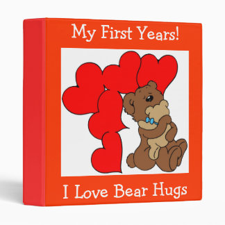I Love Bear Hugs - Designer Baby Book Binder