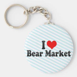 I Love Bear Market Keychains