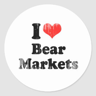 I LOVE BEAR MARKETS.png Round Stickers