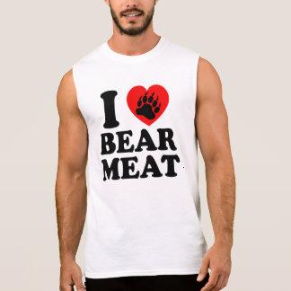 I LOVE BEAR MEAT. SLEEVELESS TEE