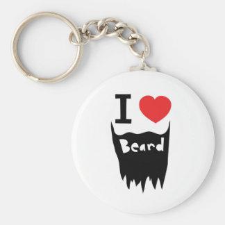I love beard keychain