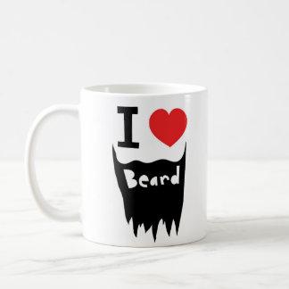 I love beard classic white coffee mug