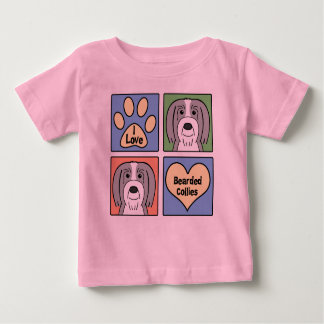 I Love Bearded Collies Baby T-Shirt