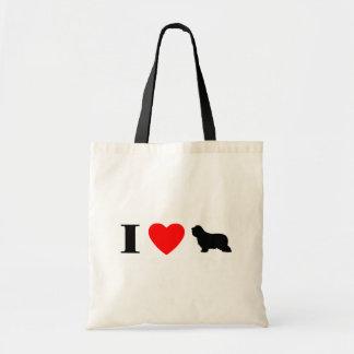 I Love Bearded Collies Bag