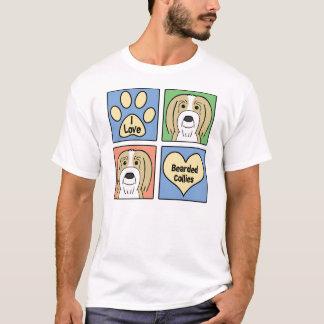 I Love Bearded Collies T-Shirt